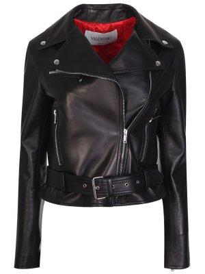 Кожаная куртка-косуха VLTN VALENTINO. Цвет: разноцветный