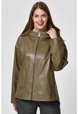 Кожаная куртка с капюшоном Le monique