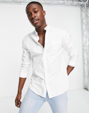 Белая оксфордская рубашка из органического хлопка с длинными рукавами -Белый New Look