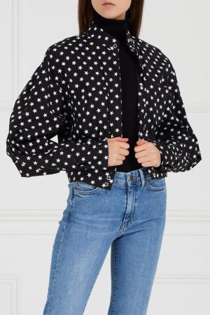 Черная блузка со звездами Chapurin. Цвет: черный