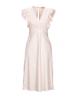 Платье миди KAOS JEANS. Цвет: светло-розовый