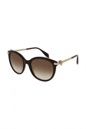 Очки солнцезащитные Alexander McQueen. Цвет: 002