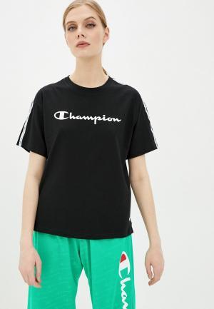 Футболка Champion Crewneck T-Shirt. Цвет: черный
