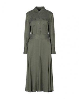 Платье длиной 3/4 EQUIPMENT. Цвет: зеленый-милитари