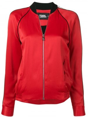 Куртка-бомбер Karl Lagerfeld. Цвет: красный