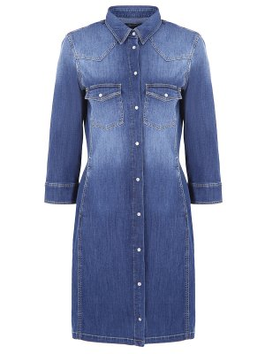 Джинсовое платье-рубашка Jacob Cohen. Цвет: разноцветный