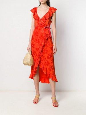 Платье с запахом Aniye By. Цвет: оранжевый