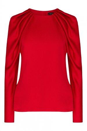 Блуза красного цвета с драпировкой Chapurin. Цвет: красный