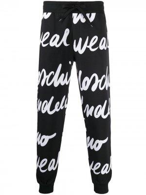 Спортивные брюки с принтом Moschino. Цвет: черный