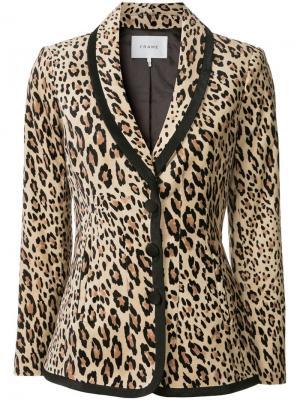 Блейзер с леопардовым принтом FRAME. Цвет: нейтральные цвета