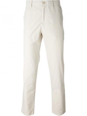 Классические брюки чинос Burberry. Цвет: телесный
