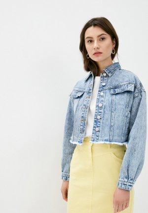 Куртка джинсовая b.young. Цвет: голубой