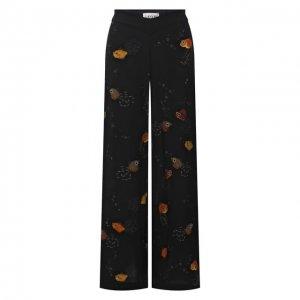 Шелковые брюки Lanvin. Цвет: чёрный