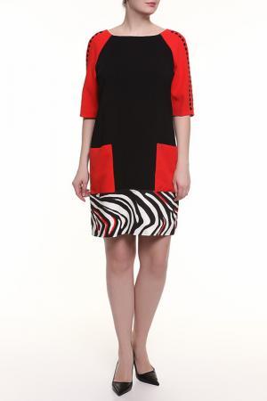 Платье 22MAGGIO. Цвет: черно-красный
