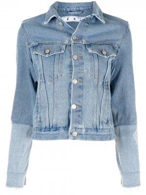 Джинсовая куртка со вставками Off-White. Цвет: синий