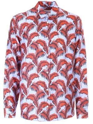 Рубашка шёлковая с принтом MARC JACOBS
