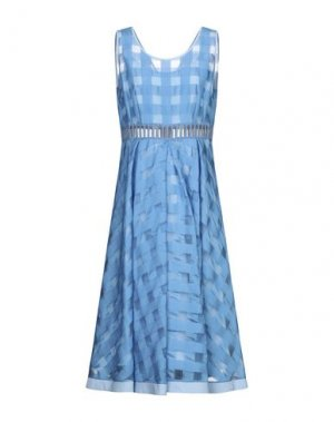 Платье длиной 3/4 22 MAGGIO by MARIA GRAZIA SEVERI. Цвет: лазурный
