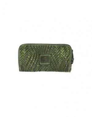 Бумажник CAMPOMAGGI. Цвет: зеленый