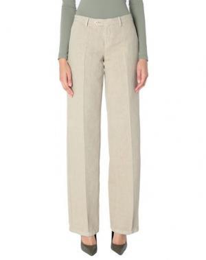 Повседневные брюки PT Torino. Цвет: песочный