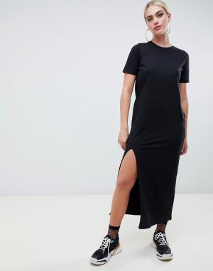 Платье-футболка макси ultimate ASOS DESIGN. Цвет: черный