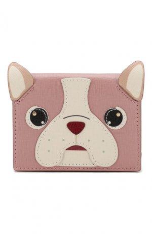Кожаное портмоне Allegra Furla. Цвет: розовый