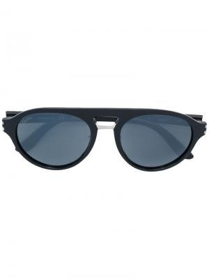 Солнцезащитные очки Cartier. Цвет: синий