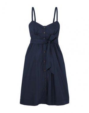 Платье до колена J.CREW. Цвет: темно-синий