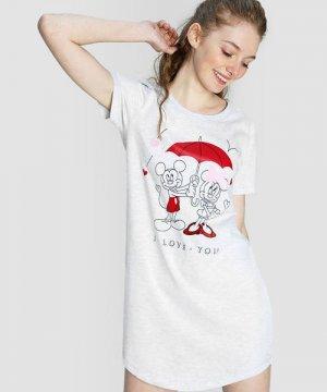 Ночная сорочка Mickey Mouse O`Stin. Цвет: светло-серый
