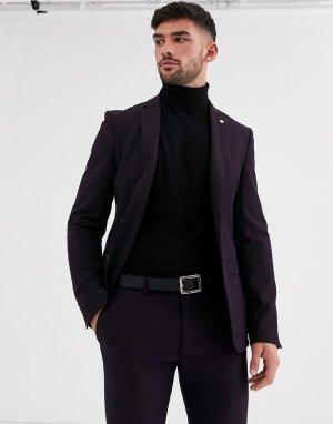 Приталенный пиджак сливового цвета Avail London-Фиолетовый London
