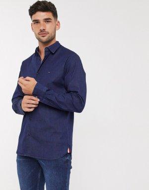 Джинсовая рубашка с длинными рукавами -Синий Tommy Hilfiger