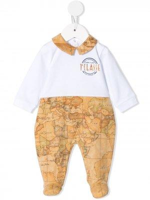 Пижама с принтом Alviero Martini Kids. Цвет: коричневый