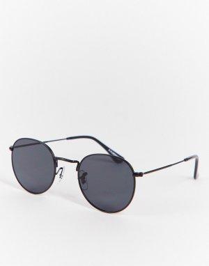 Черные круглые солнцезащитные очки в стиле унисекс Hello-Черный цвет A.Kjaerbede