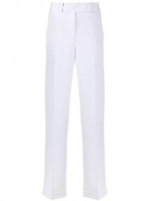 Прямые брюки с завышенной талией Michael Kors. Цвет: белый