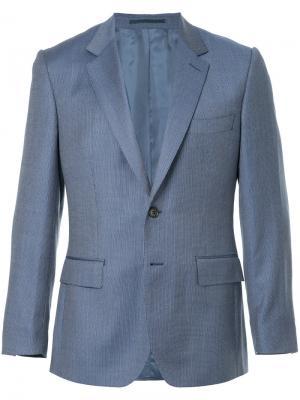 Классический приталенный пиджак Gieves & Hawkes. Цвет: синий