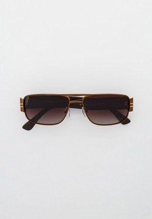 Очки солнцезащитные Thom Richard TR9045, поляризованные. Цвет: коричневый