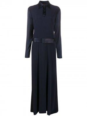 Платье макси с поясом Jean Paul Gaultier Pre-Owned. Цвет: синий