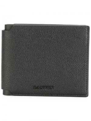 Зернистый бумажник Lanvin. Цвет: чёрный