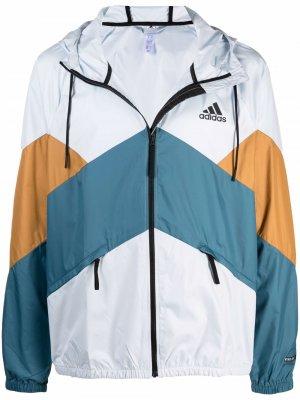 WIND.RDY Back to Sport windbreaker adidas. Цвет: синий