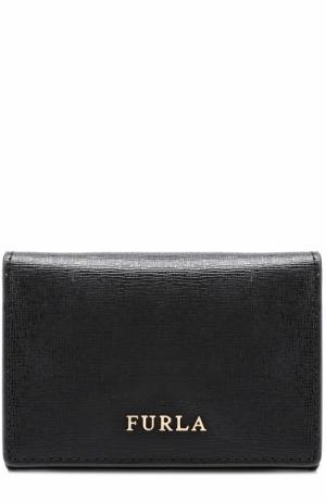 Кожаный кошелек с логотипом бренда Furla. Цвет: черный