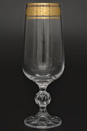 Набор фужеров для шампанского Bohemia. Цвет: прозрачный, золотой
