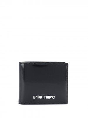 Кошелек с логотипом Palm Angels. Цвет: черный