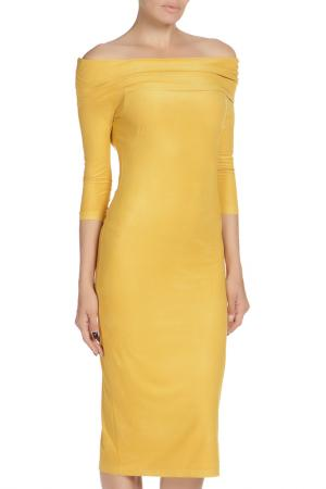 Платье Libellulas. Цвет: желтый