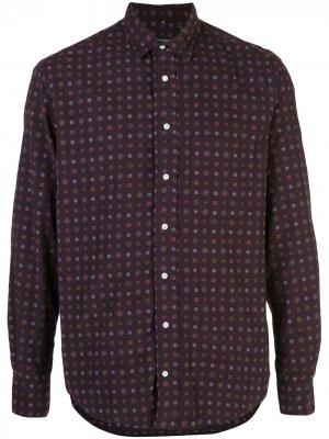Рубашка с длинными рукавами и узором Gitman Vintage. Цвет: фиолетовый