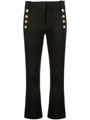 Укороченные брюки клеш с пуговицами в морском стиле Derek Lam 10 Crosby