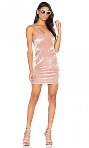 Платье-комбинация winona MINKPINK. Цвет: румянец