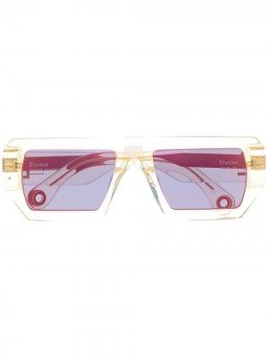 Солнцезащитные очки Sauvage в прозрачной оправе Etudes. Цвет: желтый