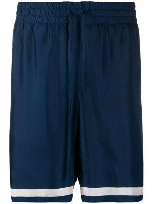 Спортивные шорты с лампасами Casablanca. Цвет: синий