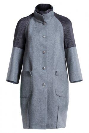 Пальто D.VA. Цвет: серый
