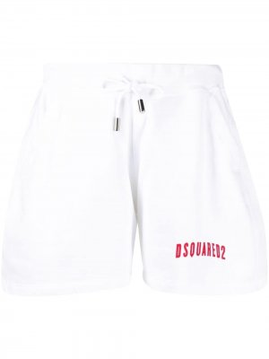 Спортивные шорты с логотипом Dsquared2. Цвет: белый