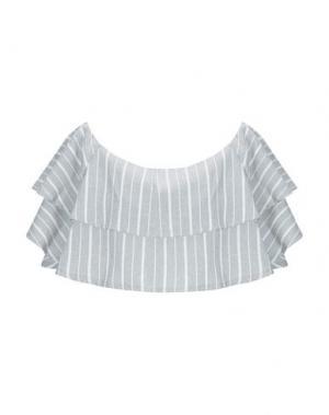 Блузка WEILI ZHENG. Цвет: серый